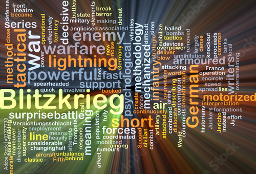 Blitzkrieg background concept glowing Canvas Print