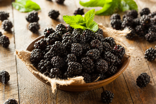 Photo Fresh Raw Organic Blackberries