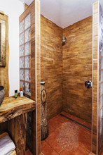 Modern Wooden Shower Cabin