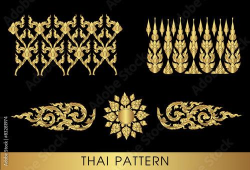 Foto  Thailändischer Kunstmustervektor