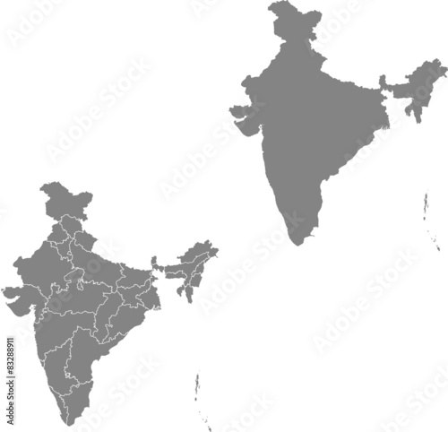 map of India Canvas