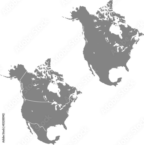 map of North America Wall mural