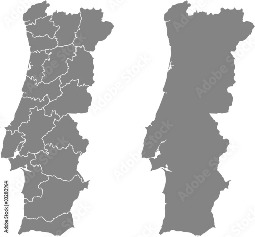 map of Portugal Fototapete