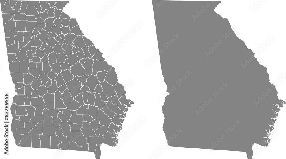 Fototapety, obrazy: map of Georgia