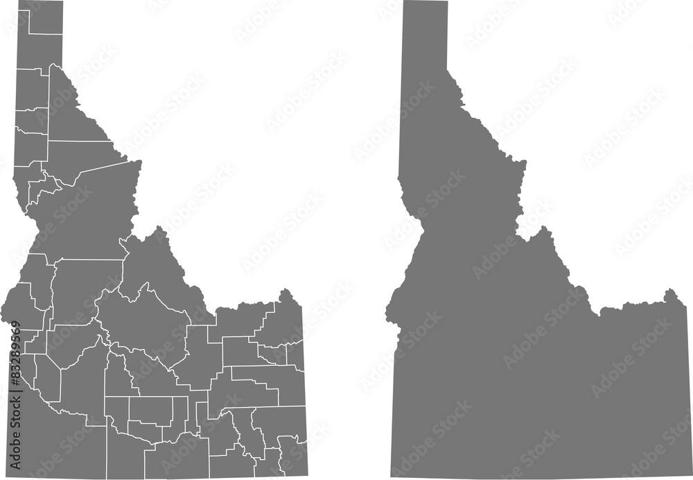 Fototapety, obrazy: map of Idaho