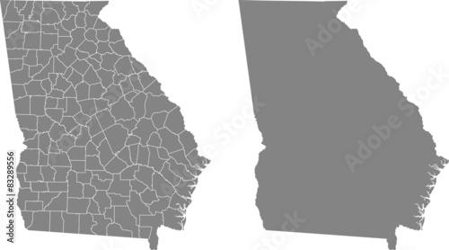 Fotomural  map of Georgia