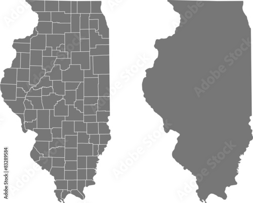 Fototapeta map of Illinois