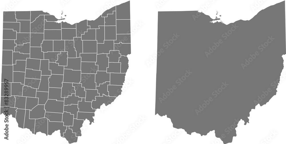 Fototapeta map of Ohio