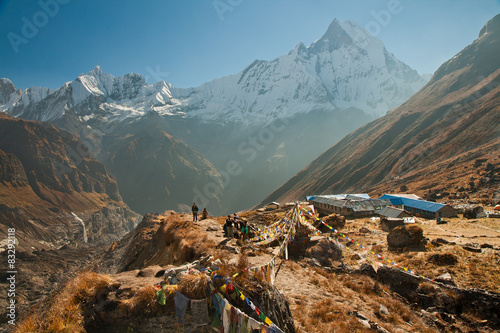 Deurstickers Nepal Annapurna base camp