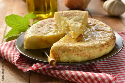 Fotografie, Obraz  Spanish omelette with potato and egg