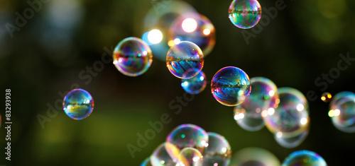 Soap bubbles Wallpaper Mural