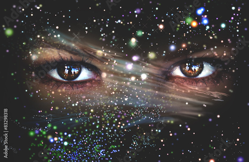 Fotografia  Eyes of the Universe, space Eye, live space
