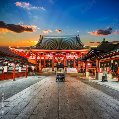 Photo Sensoji Temple in Tokyo