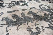 Mosaic Detail On Antique Roman...