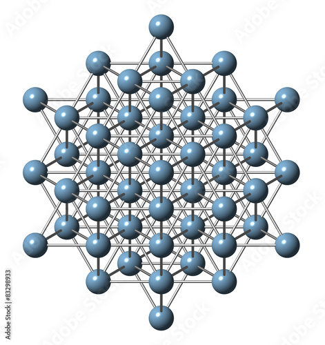 Photo Aluminium (aluminum) metal, crystal structure.