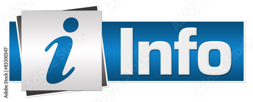 Fototapeta Info Blue Grey Button Style  obraz