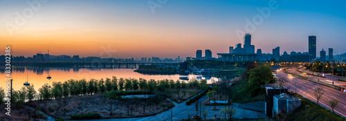Photo sur Aluminium Seoul Seoul Sunrise