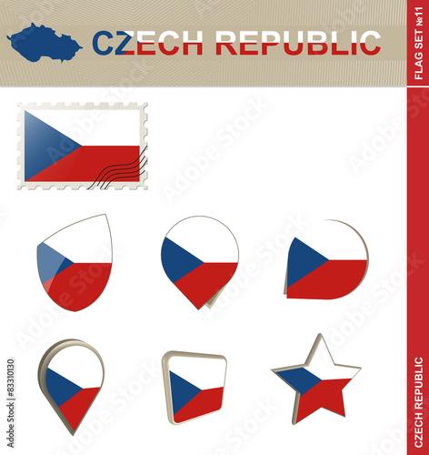 Photo  Czech Republic Flag Set, Flag Set #11