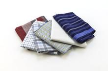 Handkerchiefs For Men On A Whi...