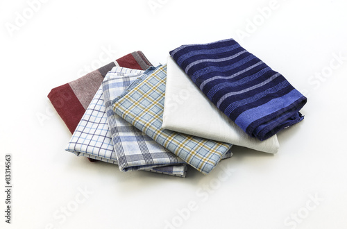 handkerchiefs for men on a white background Wallpaper Mural