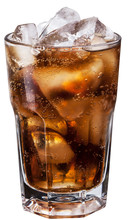 Glass Of Cola With Ice Cubes.