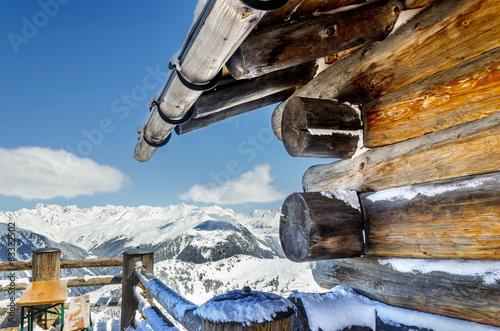 Silvretta Montafon Impression Holzhütte mit Aussicht #83322502