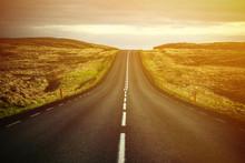 Beautiful Landscape Of Empty Highway Road