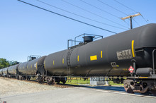 Tank Train In Motion At A Leve...