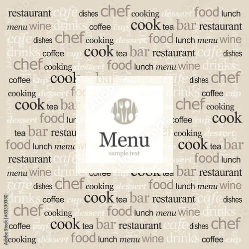 Poster Kranten Restaurant menu design