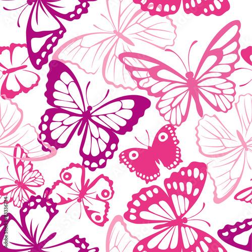 fototapeta na szkło Jednolite wzór z motyli