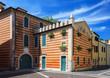 Striped building in Bardolino
