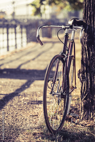 Spoed Foto op Canvas Fiets Bike road fixed gear bicycle