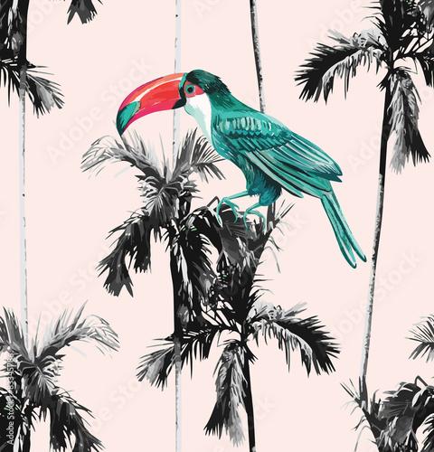 palmy-i-tukan-bezszwowe-tlo