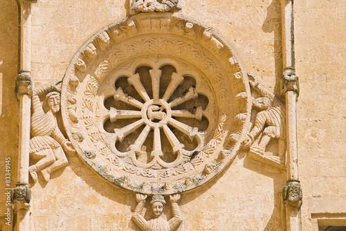 Poster Monument Church of St. Domenico. Matera. Basilicata. Italy.