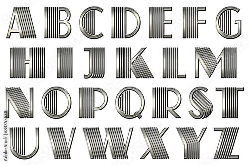 art deco Gatsby alphabet Canvas Print
