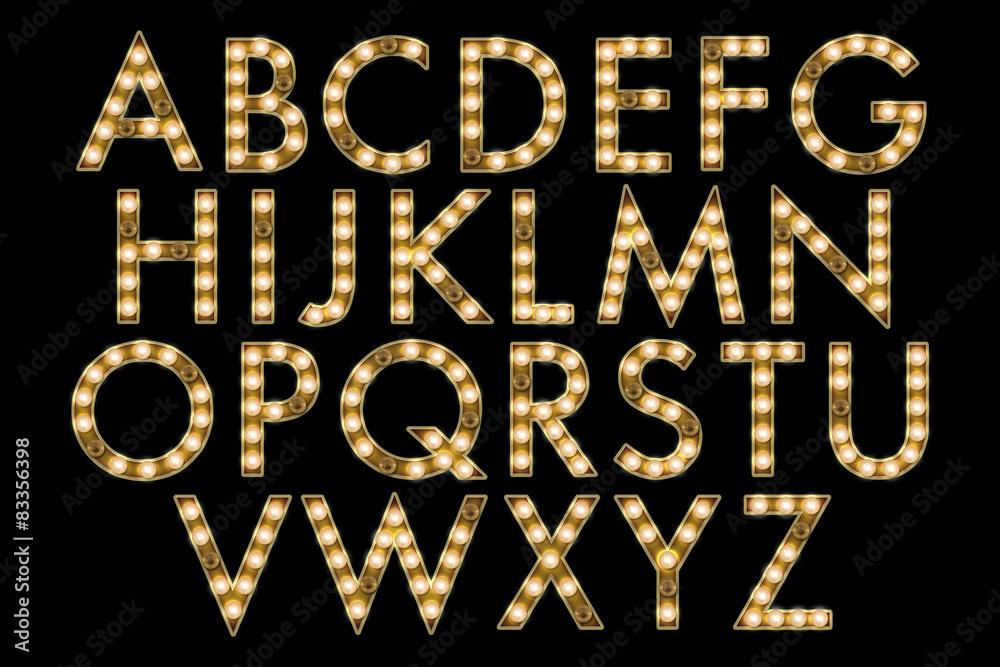 Photo  marquee alphabet collection