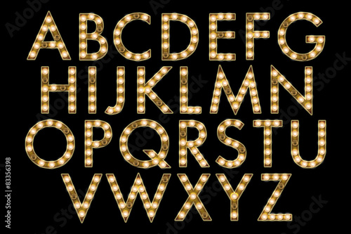 Photo  marquee alphabet collection