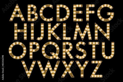 Fotografie, Obraz  marquee alphabet collection