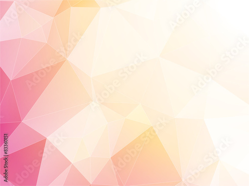 Juliste  modern light pastel triangular background