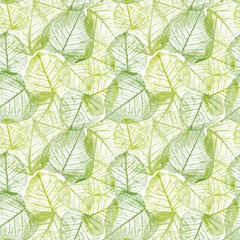 Fototapeta Eko Seamless floral pattern with leaves.