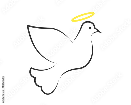 White Dove With Halo As The Holy Spirit Symbol Buy This Stock