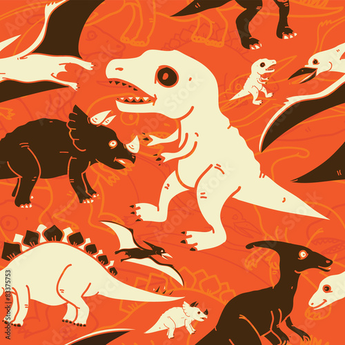 Photo  Dinosaur Pattern