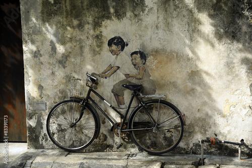 Naklejka premium Sztuka ulicy Penang