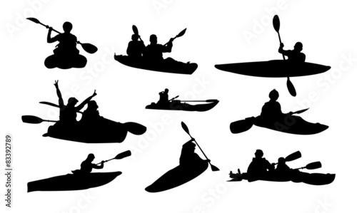 Kayak Paddle Boat Silhouette