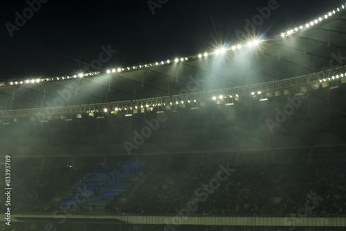 Aluminium Prints Stadion Stadium roof against