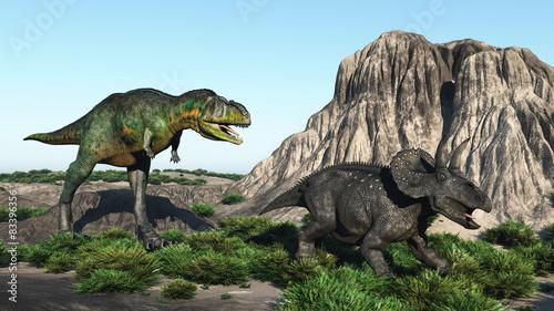 Naklejki dinozaury  two-dinosaurs