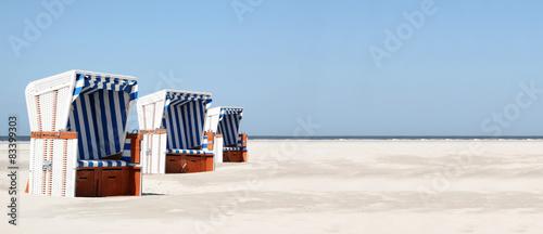 Strandkorb blau