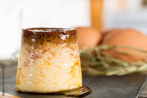 Homemade flan Canvas-taulu