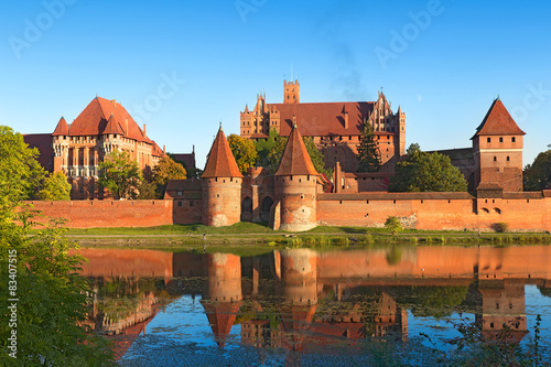 Cadres-photo bureau Chateau Malbork castle, Teutonic Knights' fortress, Poland.