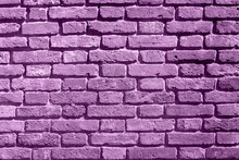 Background Of Purple Brick Wal...